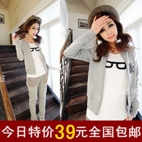 Casual set spring and autumn sportswear outerwear 2013 fashion cardigan casual sweatshirt sports set female