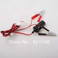 New 12V Car Cigarette Line Connector Adapter Car Battery Clip Free Shipping