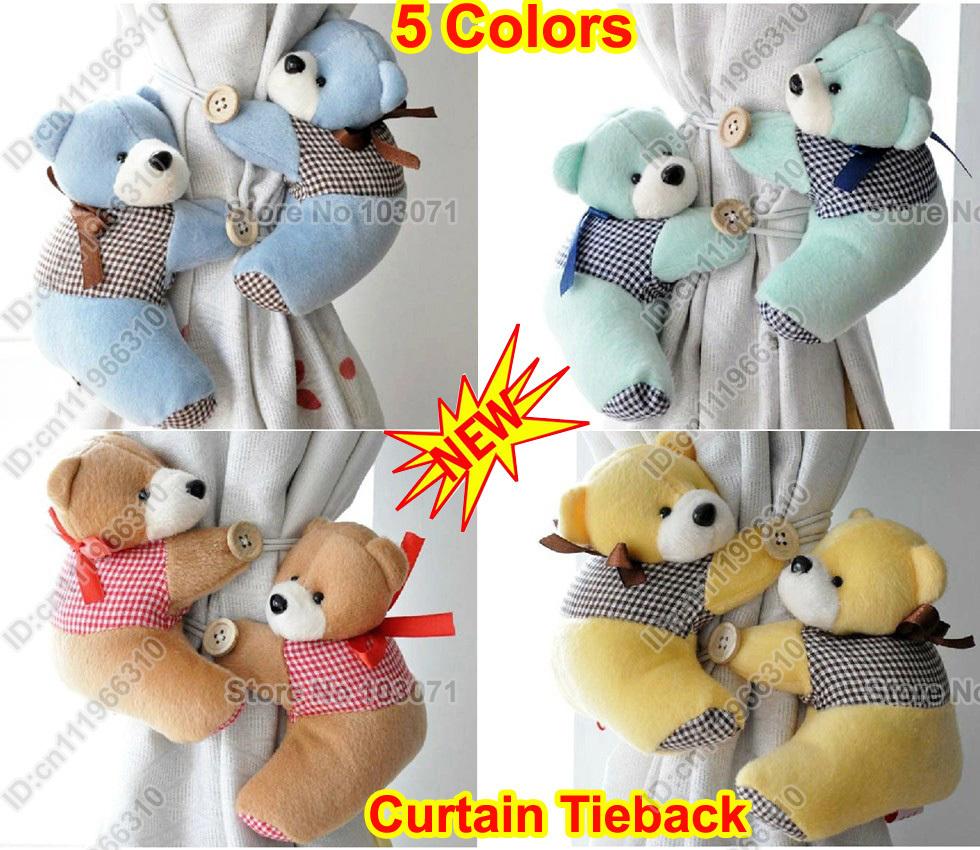 Kid Toddler Infant Nursery Room Bedroom Animal Cartoon Plush Curtain ...