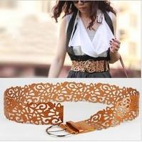 woman belt Cutout strap women's all-match fashion belt strap decoration ultra wide cummerbund female women's belt