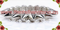1 row silver color Punk Style Spike Hedgehog Rivet Bracelet, Fashion Stretch Adjustable Rivet Spike Bracelet