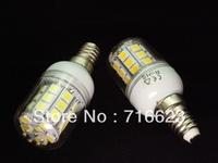 Wholesale E14 30 SMD 5050 LED High Power Light White/ Warm white bedroom light corn spot lamp Allimium body Long life 5pcs/Lot