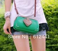 Free Shipping Fashion New Style Love Shape PU Leather Women Lady Girls Tote Bag Shoulder Bag Messenger Bag