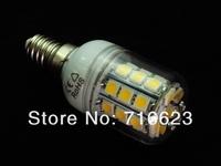 Wholesale E14 30 SMD 5050 LED High Power 5W 110V Light White/ Warm white bedroom light corn spot lamp Allimium body Long life