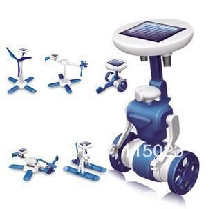 Solar toys100PCS 6 IN 1 Solar Toy Educational DIY Robots Plane Kit Children Kid Gift Creative