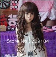 Free shipping Black Dark Brown Light Brown Synthetic lace Wig Women's long Hair Wigs high quality+drop shipping