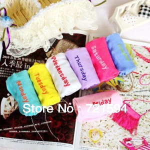 Free Shipping Fashion Women's Week Socks Seven Day's Sports socks