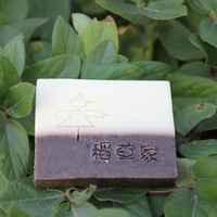 Straw cold process handmade soap tea tree oil repair soap cold soap handmade soap drawing soap