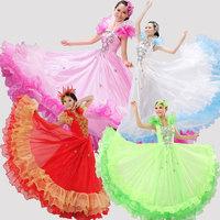 Spanish bull dance colorful expansion skirt dance skirt costume