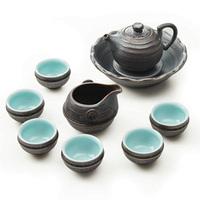 Fine ceramics tea set kiln gold ferroxyl glaze pot high quality