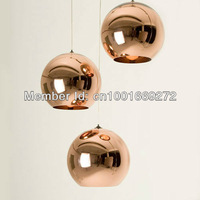Free Shipping 35CM Copper Color Tom Dixon Mirror Ball Pendant Lamp*3pieces