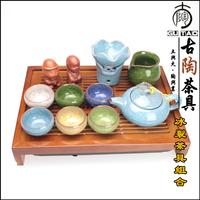 Ancient ceramic calvings glaze kung fu tea set calvings cup pot teaberries cup