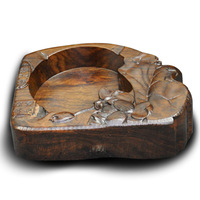 Calamander open fire ashtray cigarette butt sandalwood tea set