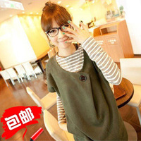 2013 spring maternity clothing twinset long-sleeve basic t-shirt maternity dress maternity set
