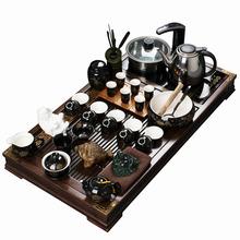Ceramic tea set induction tea tray wood kung fu tea set yixing teapot
