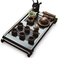 Ceramic ebony wood tea tray ordovician wood tea set kung fu tea set teapot
