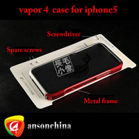 Newest Metal Aluminum Frame Bumper Vapor 4 Case for iphone 5 5g add Retail box.Free DHL or FEDEX