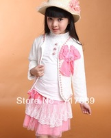 New children's clothing Spring and Autumn exquisite lace girls three-piece