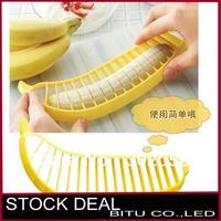 10pcs/lot Banana Slicer Household Goods Novelty Banana Cutter for Kitchen BK01p