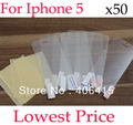 For iphone5 HOT clear Screen Protector For apple iphone 5 LCD Screen,Without Retail Package+50pcs/lot,free shipping