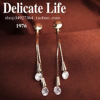 No pierced clip-on earrings long earrings female long tassel design accessories jewelry earring j401