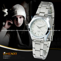 CHENXI Quartz White Women Lady New Bracelet Stainless Wristwatch Luxury FREE SHIPPING