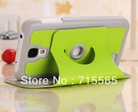 50pcs New 360 Rotating Stand Leather Case for samsung galaxy s4 i9500