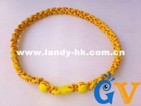 New Softball Stitch Necklace, Yellow Stitching Cord  Triple Braid Titanium Softball Necklace, 50pcs/lot, Free Shipping