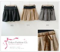 Hot Sale All Match Bouffancy Short Skirt Apricot free shipping QM12091404-2