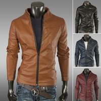 Мужские изделия из шерстиNew Slim Sexy Jacket Coat Cool Men Clothing Fashion Solid Color Simple Double Breasted Coat Woolen Coat Jacket