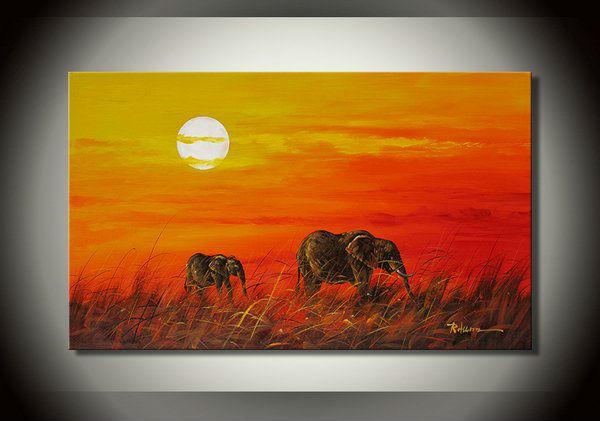 African style painting koop goedkoop african style painting van chinese african style painting - Poster muurschildering paysage ...