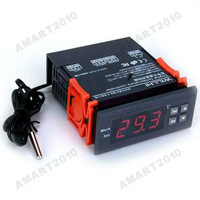Free Ship,NEW AT8001 Digital 220V Temperature Controller Thermostat LCD Display - 50 - 110 deg C