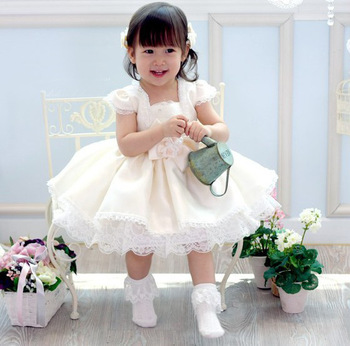 Puff skirt baby princess flower girl dress female tulle dress formal dress child infant one-piece dress dance costume clothes