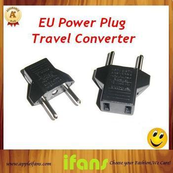 High Quality Plug for Europe US Power Plug Converter Adapter to EU Plug AC Plug 20Pcs/Lot Free shipping