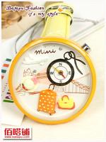 Mini handmade polymer clay watch cartoon wristwatch for women