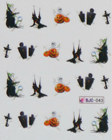 Best selling!! 3D nail sticker Decal Halloween  designs Nail Stickers Nail Art Decoration 20 pack Free shipping BJC044=043