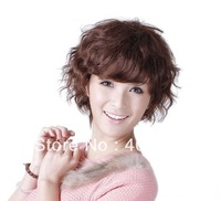 hot sale 100% human hair,short human hair wigs, human hair short wig,fashion human hair wigs,middle length curly wigs