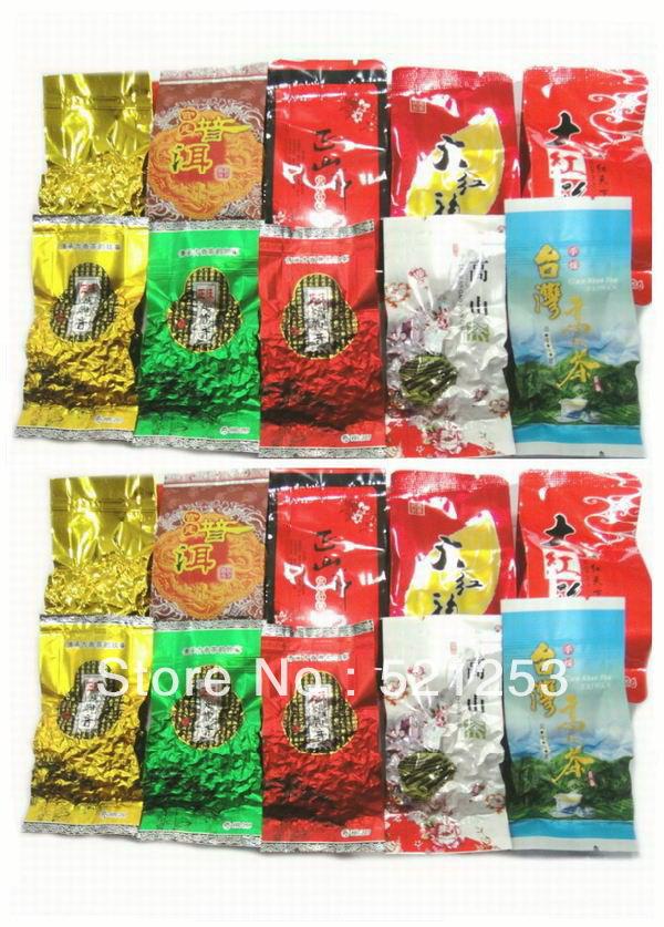 20pcs 10 Different Flavors Oolong Tea Milk oolong tea TiKuanYin DaHongPao Puer tea Free gift Free