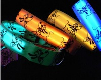 8 colors Glow LED Cat Dog collars Pet Flashing Light Up Safety Collar Pluto Designs S M L Free shipping