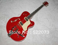 New (red) 2pickups electric guitar with white pickguard and red rear plate OEM