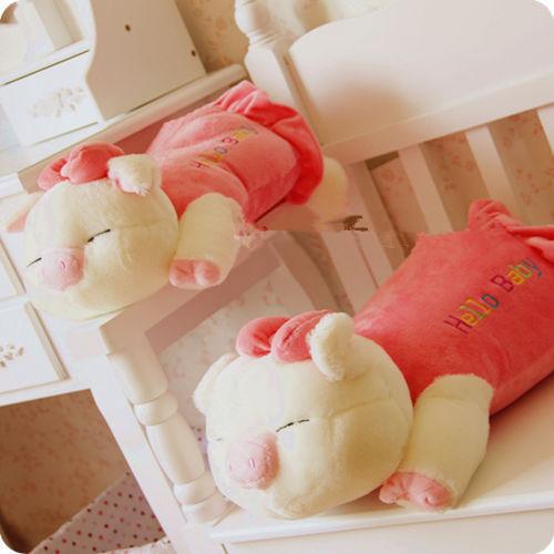 wholesaler hotsell Christmas promotion gifts pig plush doll pillow cushion bolster birthday gift length 40cm(China (Mainland))