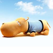wholesaler hot sell Christmas gift lovely BIG HEAD DOG soft stuffed plush animal doll toys cute cushion pillow 50cm piece(China (Mainland))