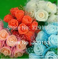 Hot sale Dia1.5-.2.0cm 100pcs/bag  PE artificial rose flower / Gife box decoration / ornament foam flower