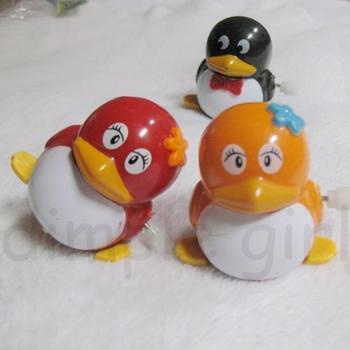 educational for baby children birthday gift boy girl cute small plastic penguin wind up toys clockwork animal shape novelty item