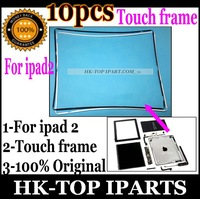10 pcs Black and white Middle Bezel Frame Lcd Touch screen Holder For Apple iPad 2  YL2007/8