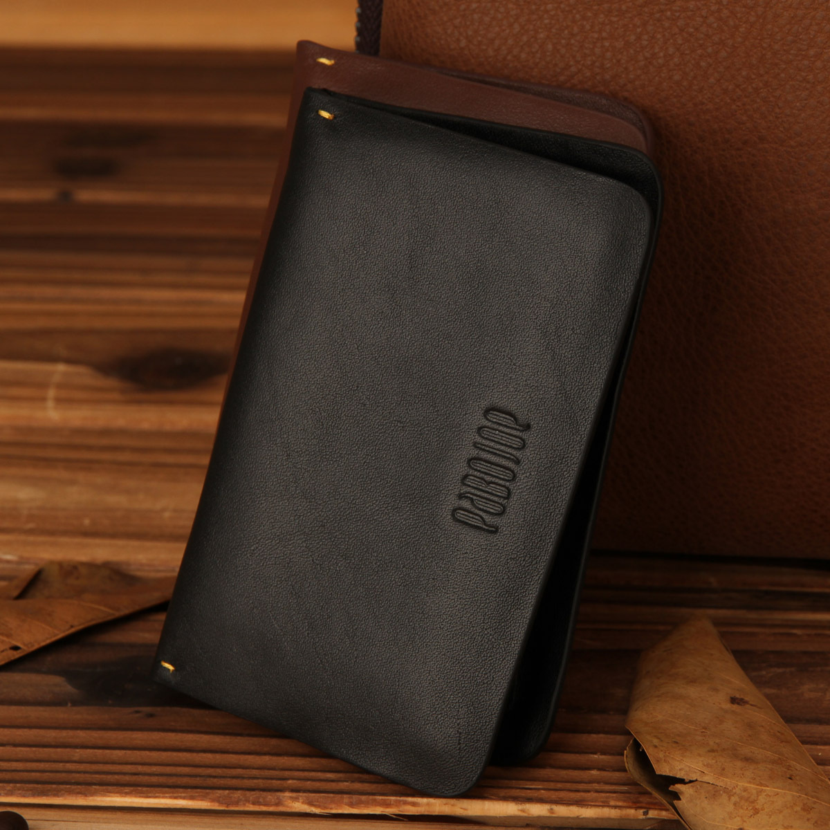 Free shipping Pabojoe cowhide card bag stock multifunctional card holder general money clip(China (Mainland))