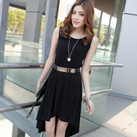 free shipping 2013 irregular slim dovetail one-piece dress skirt bohemia beach dress