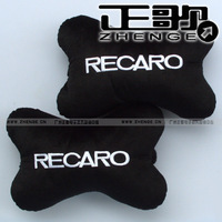 free shipping 1pair Car pillow Car logo car pillow neck pillow recaro Bone pillows 1pair=2pcs headrest