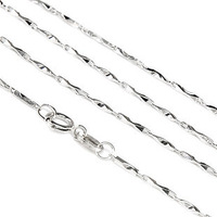 Pure silver necklace s925 women's pure silver jewelry necklace ingot chain brief with chain scfv Women