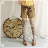 retail women knee stockings,print women stocking,women high stocking,free shipping
